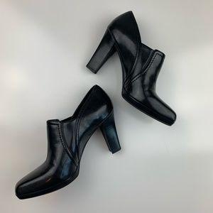 Franco Sarto 7M Yuri Black Ankle Bootie with heel